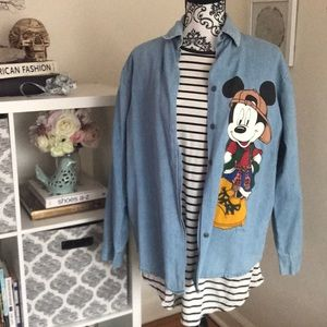 Vintage Mickey Mouse Denim Shirt